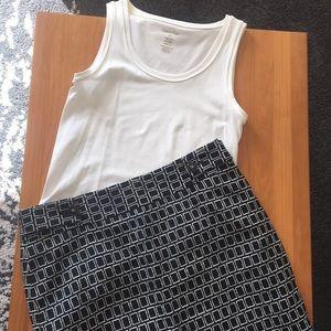 Rafaela Studio Skirt - Size 12 - Black/White